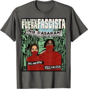 This a Kills Fascists Tee Olive